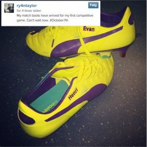 Ingen tvil om at Ryan Taylor ser fram til returen på fotballbanen.