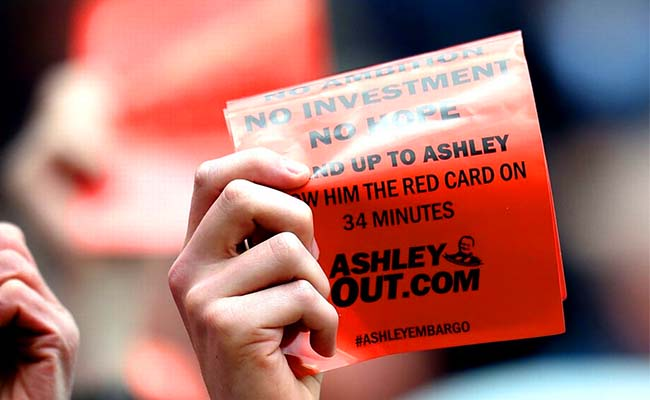 ashleyout.com Red Card Leaflet Swansea April 2015