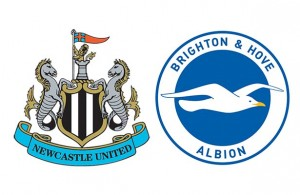 Newcastle United v Brighton Crests White Background