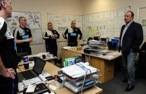 Rafael Benitez Visits the Newcastle United Academy